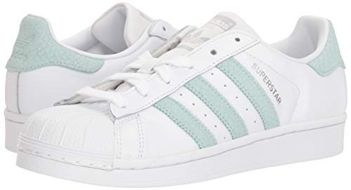 Sneaker ash Superstar Silver Metallic Women's Green adidas US White M Originals 5 wtqUXEx7