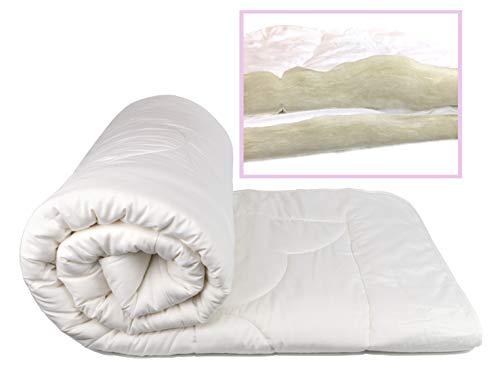 (Organic Comfort Market 100% Natural Wool Comforter. Woolmark & Oeko Certified. (Queen) )