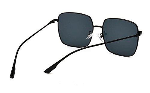 Lennon de inspirées Frêne Morceau rond polarisées Noir vintage de soleil métallique A style du lunettes retro en cercle 84HdFqwHx
