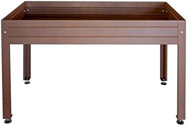Mesa de cultivo lacada marrón 150 x 50 x 65 cm: Amazon.es: Jardín