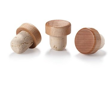 WIDGETCO 21.5mm Natural T-Cork with Wood Top by WIDGETCO