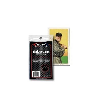 BCW Tobacco Card Sleeve: Sports & Outdoors