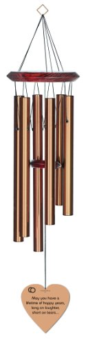 Chimesofyourlife wed-laughter & tears-heart-27-bronze Laughter and Tears Wedding Wind Chime, 27-Inch, Bronze