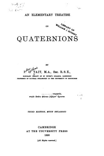 An Elementary Treatise on Quaternions