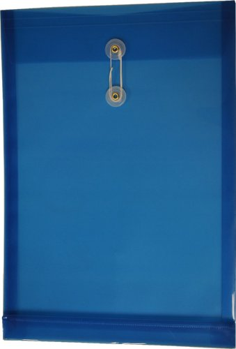 Filexec Poly envelope, Legal size, Top load, Button string closure ,Blue (Pack of 6) (50054-14101) by Filexec