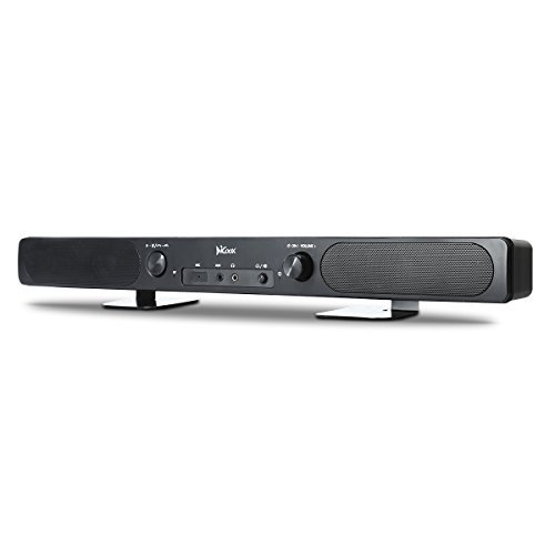 Guzack Soundbar,Bluetooth Sound Bar Speakers Audio 2.0 Channel 3D Surrounding Sound Mini Soundbar,Built-in Mic and 3.5mm Headphone,Hands-Free For Smartphones,Ipad,Tablet,TV,MP3 Player MacBook
