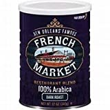 French Market Restaurant Blend Dark Roast Coffee, 12oz (24 Pack)
