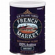 New Orlean's Famous French Market Restaurant Blend 100% Arabica Dark Roast Coffee (2 -