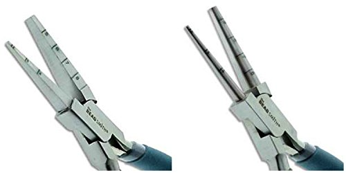 Image of 2 Beadsmith Pliers, LoopRite and SquareRite Multi-Size Pliers-Each Plier is Marked