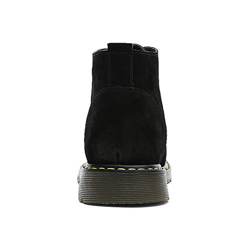 High Casual Simple Zapatos Dentro Top Brogue Fleece Invierno Clásico Para Botines De Negro Tamaño Gran Faux Y Hombre FwqWnAvnE7