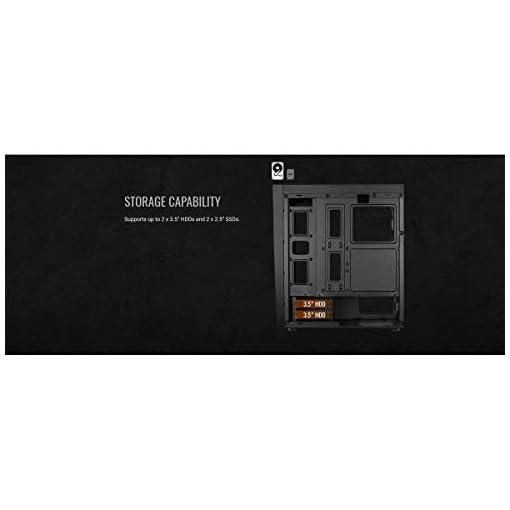 Aerocool BOLT - Caja de PC, ATX, Ventana Total, RGB 13 modos, ventilador 12cm 7