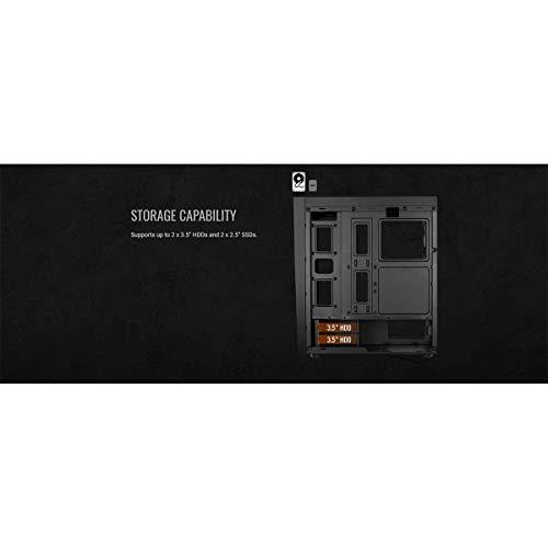 Aerocool BOLT - Caja de PC, ATX, panel acrílico, RGB 13 modos, ventilador 12cm 13
