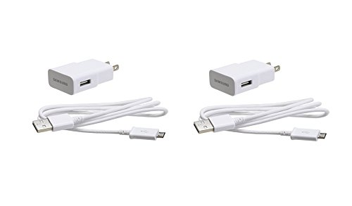 Samsung Universal Travel Charger for Galaxy S3/S4/Note 2, 2 Pack - Non-Retail Packaging - White
