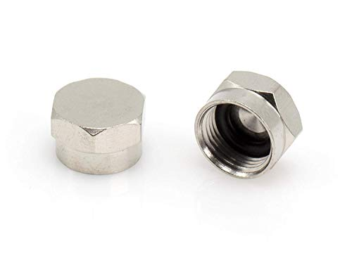 THE CIMPLE CO - Coaxial F Cap (F81 Cap) Weather Cap - for Coax Ground Blocks, splitters, or Other F Connectors - Protects Female Connection for Future use - (4 Pack) ()