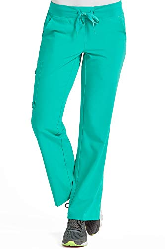 Med Couture Scrub Pants Women, Yoga Cargo Pocket Scrub Pant, Spearmint, Medium from Med Couture