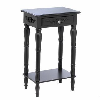 Koehler Home Indoor Decorative Accent Wooden Colonial Carved Side Table by Koehler
