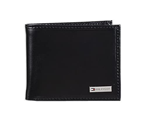 Tommy Hilfiger Leather Men amp;#039;s Multi Card Passcase Bifold Wallet