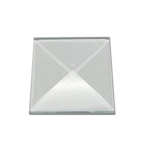 Stained Glass 1 x 1 Clear Square Bevels Pack of 10