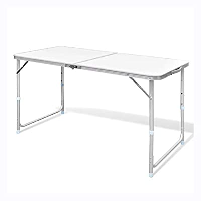 """K&A Company Camp Furniture, Foldable Camping Table Height Adjustable Aluminum 47.2""""x23.6"""""""