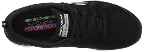 Skechers Sport Womens 12761, Damen Sneaker Schwarz One Size Black/White