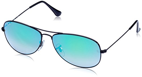 Ray-Ban Cockpit - Shiny Black Frame Green Gradient Flash Lenses - Green Ray Ban Lenses Flash