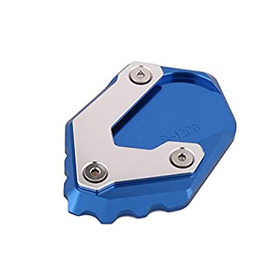 AnXin Motorcycle CNC Kickstand Foot Side Stand Extension Pad Support Plate For BMW R1200 GS LC 2013 2014 2015 2016 2020 - Blue: Automotive