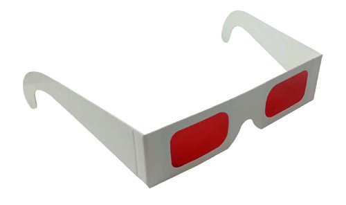 Decoder Glasses for Sweepstakes and Prize Giveaways-Red/Red-White Frame-Pack of 10