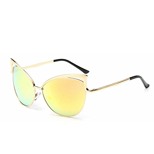 Lunettes Yellow Soleil Frame Lens Glasses Sakuldes Clear de Color Silver Lady qCCBSwxd