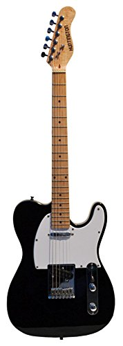 "Full Size 39 Inch Black Electric Guitar [Telecaster Style] T-Style with ""Learn to Play Guitar DVD"", and Free Carrying Bag and Strap, Cable & DirectlyCheap(TM) Blue Medium Guitar Pick"