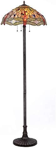 CHLOE Lighting, CH2825DB18-FL3CHLOE Lighting Tiffany-Style Dragonfly 3-Light Floor Lamp, 63 x 18 x 18