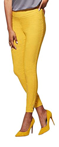Yellow Ankle Pants - 8