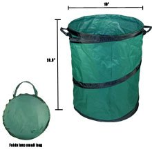 Portable Trash Can, 22u0026quot; X 28u0026quot; Collapsible, ...