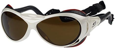 Gafas de Sol Julbo Explorador J326511, Blanco, Cameleon Anti-Niebla Lentes Fotocromáticas Polarizadas, Medio Dimensioni