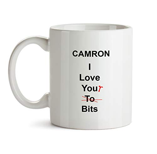 Camron Funny Anniversary Gift - AA186 Sexy Gag Coffee Mug For Him Men Dating Wedding Valentine's Day Personalized Name White Ceramic Cup