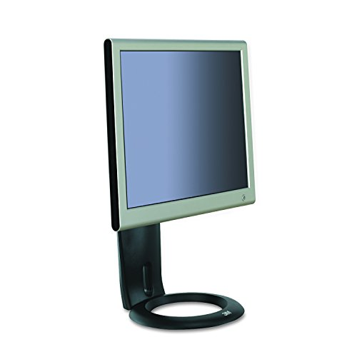 3M MS110MB Easy-Adjust LCD Monitor Stand, 8 1/2 x 5 1/2 x 8 1/2 to 13 1/2, Black