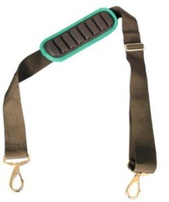 Contractor Pro Adjustable Shoulder Strap With Molded Air Channels, Has Spring Hooks To Easily Attach To Tool Bags Or Other Carriers.