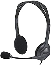 Logitech H111 Over-the-Head, Stereo Headset, Black/Silver