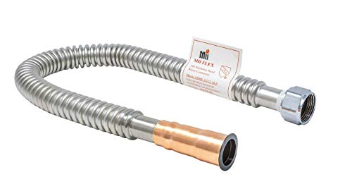 - MIIFLEX 3/4 inch FIP x 3/4 inch Copper, 24 inch Length Lead Free Stainless Steel Corrugated FLEX Connector, Water Heater Connector (Click in for more size options) 3/4'' x 3/4'', FIP x Solder