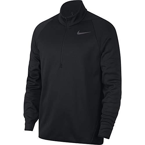 NIKE Mens Thermal Top Long Sleeve 1/4 Zip Black/Dark Grey LG❗️Ships Directly from ()
