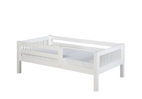 Camaflexi Mission Style Solid Wood Day Bed with Front Rail Guard, Twin, - Solid Style Wood Mission