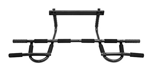 ProSource Multi Grip Chin Up/Pull Up Bar, Heavy Duty Doorway Trainer for Home Gym