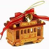 "San Francisco Christmas Ornament San Francisco Cable Car 3 "" Oak Dark Oak Wood Ornament SF"