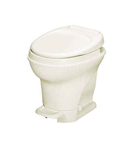 Aqua-Magic V RV Toilet Pedal Flush /High Profile / Parchment - Thetford 31672