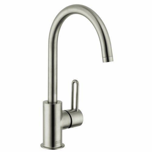 Hansgrohe 38030821 Uno Single Hole Faucet High Spout, Brushed -