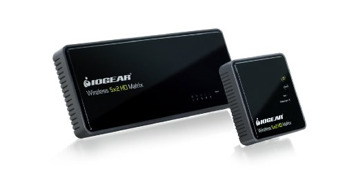 IOGEAR Wireless 5x2 HD Matrix Supports Full Uncompressed HD 1080p, 3D Content, 5.1 Channel Digital Audio, GWHDMS52