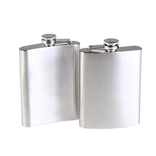 2pcs Stainless Steel Hip Flask 200ml Pocket Hip Flask - 3