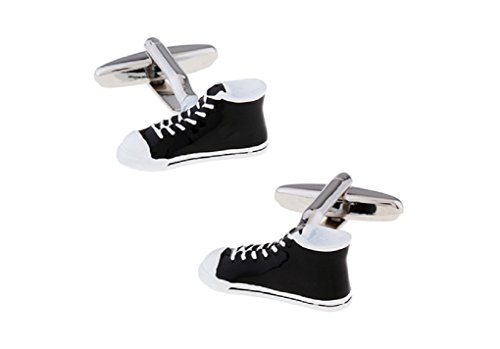 MRCUFF Sneaker High Top Basketball Shoes Pair of Cufflinks in a Presentation Gift Box & Polishing Cloth from MRCUFF
