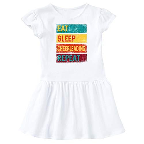 inktastic - Cheerleader Eat Sleep Infant Dress 12 Months White 337fe
