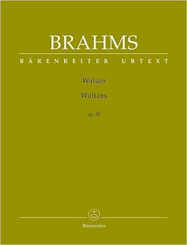 Book Brahms: Waltzes, Op. 39 (Solo Piano) [Bärenreiter]
