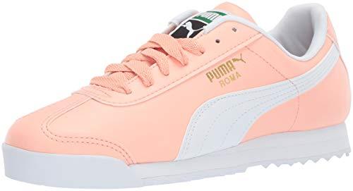 (PUMA Men's Roma Basic Sneaker, Peach Bud White, 8.5 M US)
